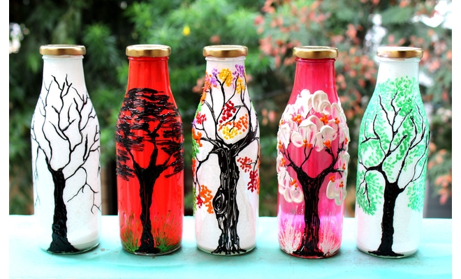 DIY Bottle Art