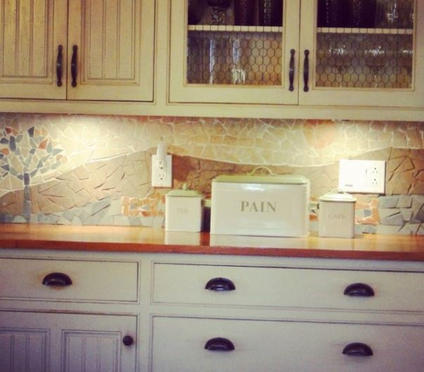 Affordable DIY Backsplash