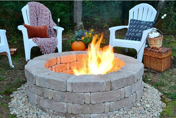 Affordable DIY Outdoor Fireplace